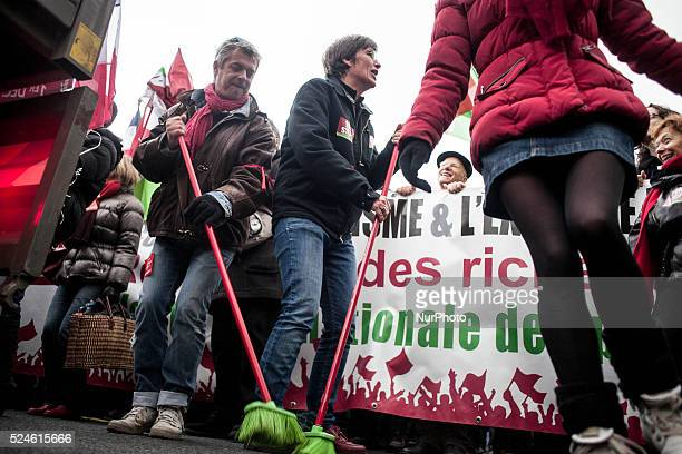 Walk from the 'front left' for a tax revolution in Paris on December 1 2013 Photo Michael Bunel/NurPhoto