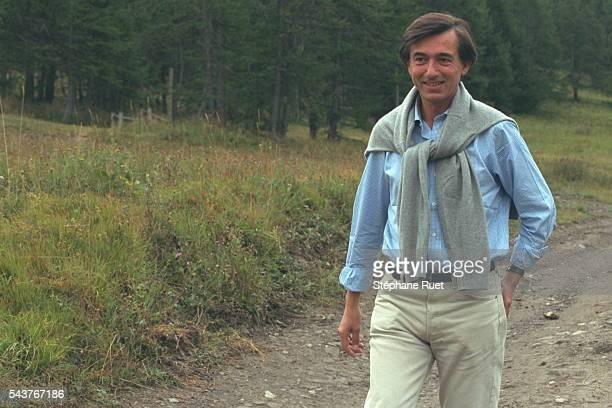 Walk in the area near Risoul for Philippe Douste-Blazy.