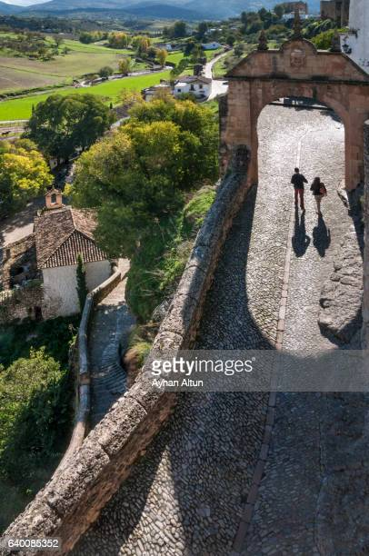 walk in the old streets of ronda,andalusia,spain - ronda stock pictures, royalty-free photos & images