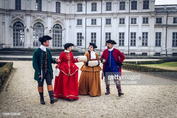 Walk in the park court life in the Stupinigi hunting lodge Italy 18th century Historical reenactment