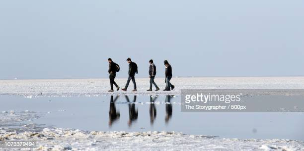 a walk in the salt lake - the storygrapher - fotografias e filmes do acervo