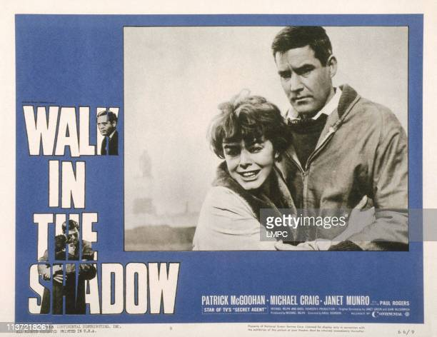 Walk In The Shadow US lobbycard from left Janet Munro Michael Craig 1962