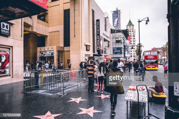 walk of fame and crowd - walk of fame stock pictures, royalty-free photos & images