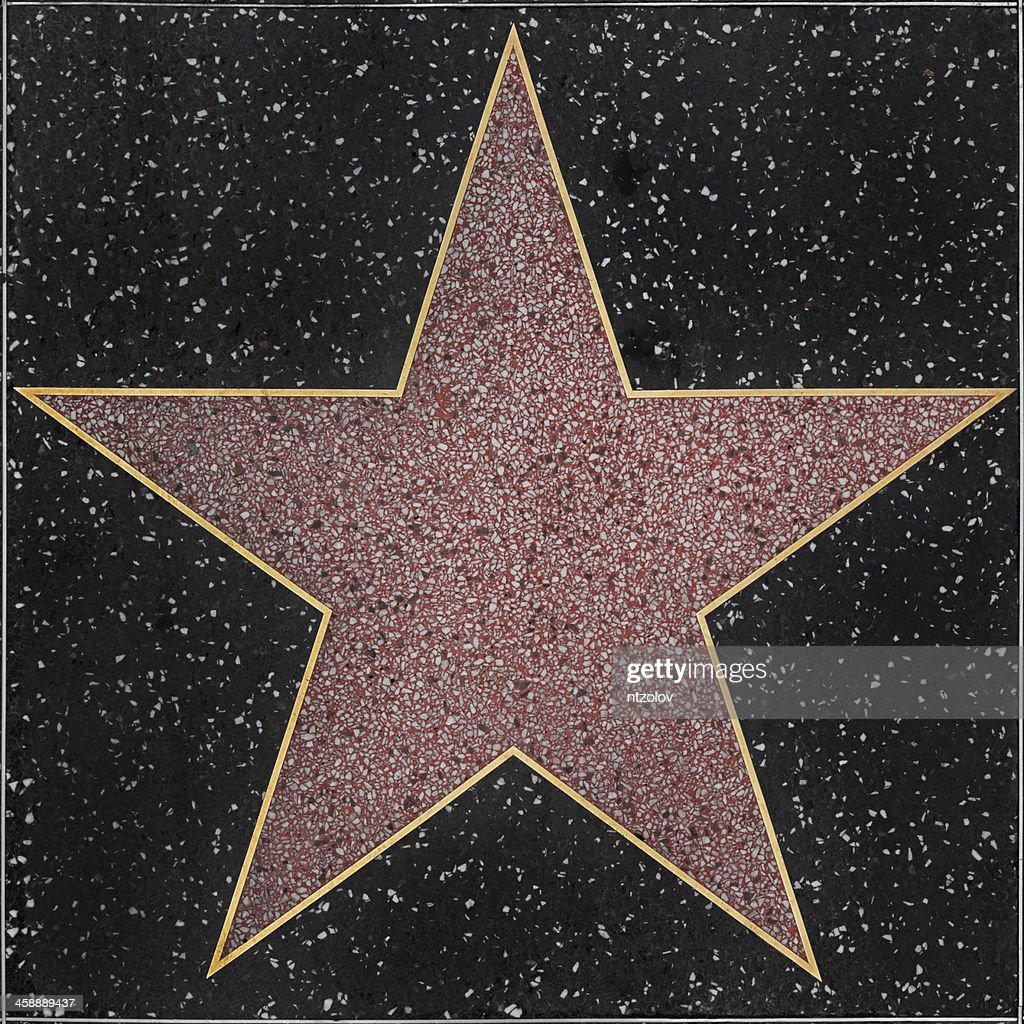 Walk of Fame Hollywood Blank Star : Stock Photo