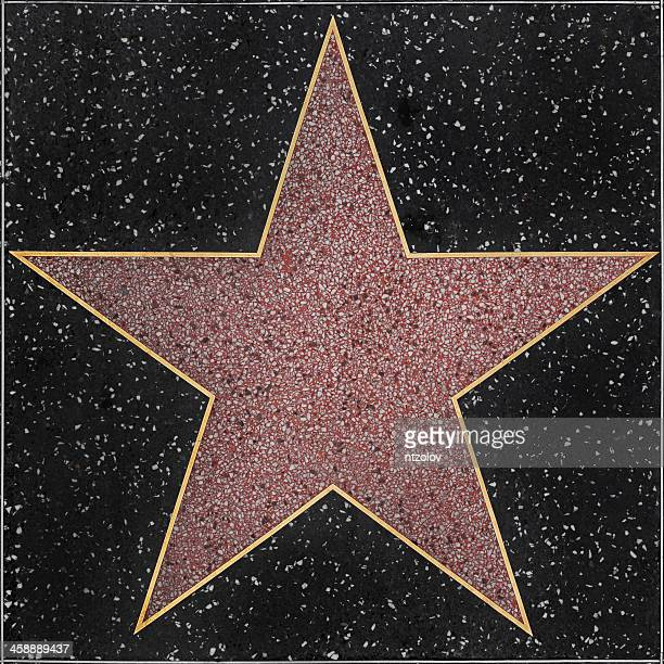 walk of fame hollywood blank star - beroemdheden stockfoto's en -beelden