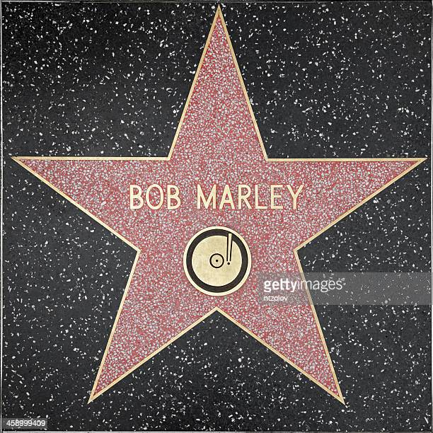 walk of fame hollywood star - bob marley - bob marley california stock pictures, royalty-free photos & images