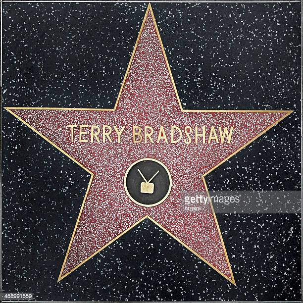 walk of fame hollywood star - terry bradshaw - hollywood squares stock pictures, royalty-free photos & images