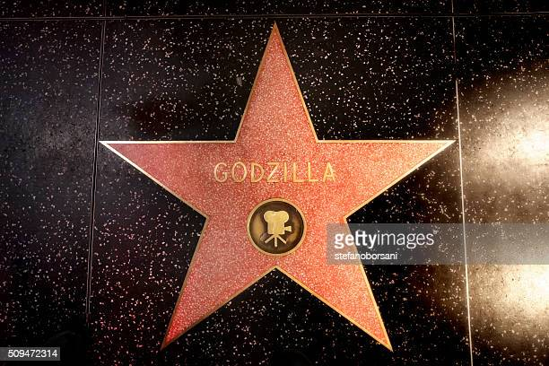 walk of fame - godzilla stock photos and pictures