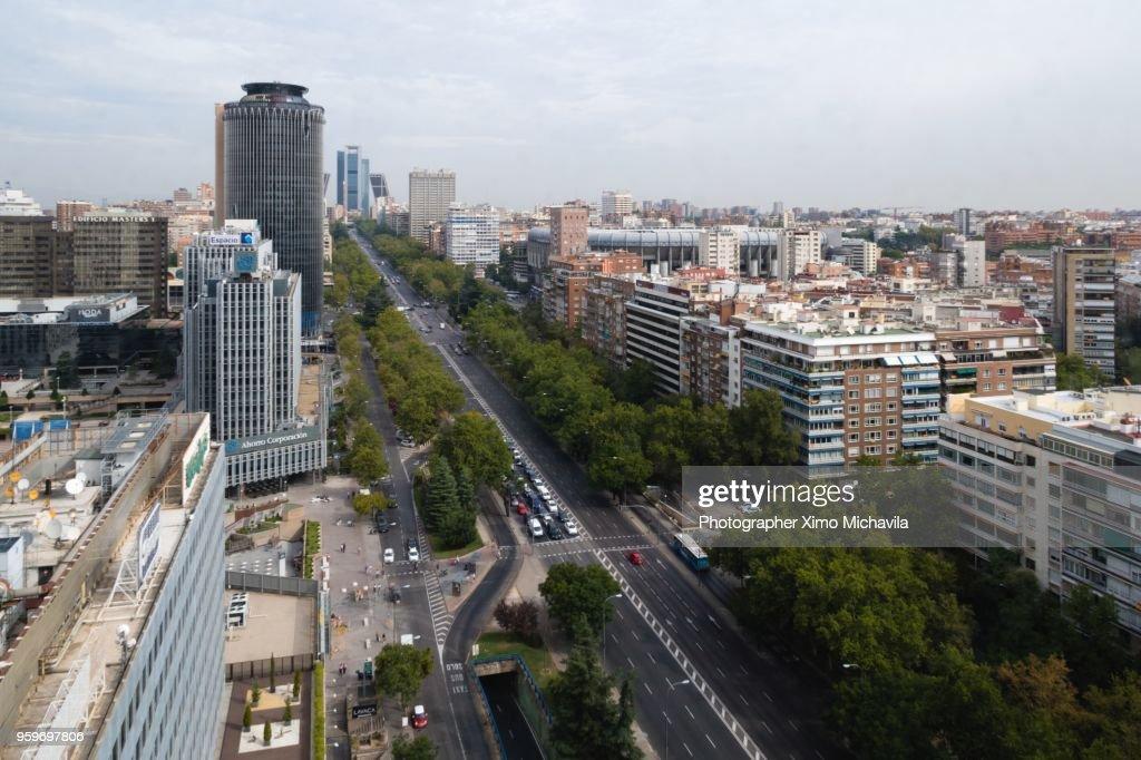 Walk of the Castellana in Madrid : Stock-Foto