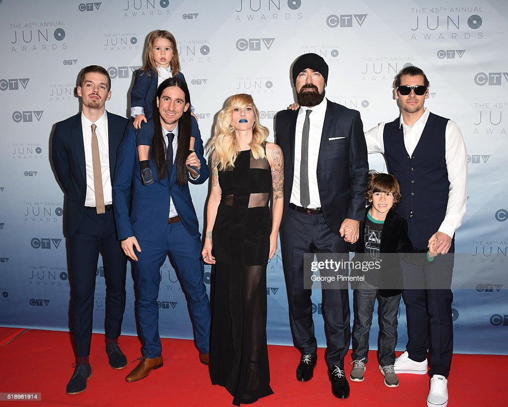 Walk Off The Earth arrives at the 2016 Juno Awards at Scotiabank Saddledome on April 3, 2016 in Calgary, Canada.
