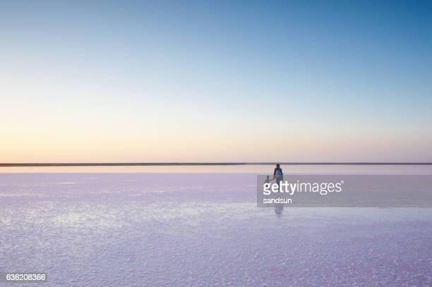 walk on a salt lake