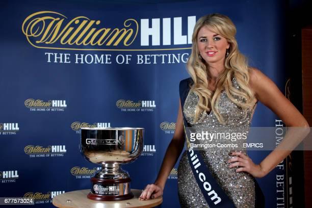 Walk on girl Nicola Cowell with the Williamhillcom 2011 Grand Slam Darts Final trophy