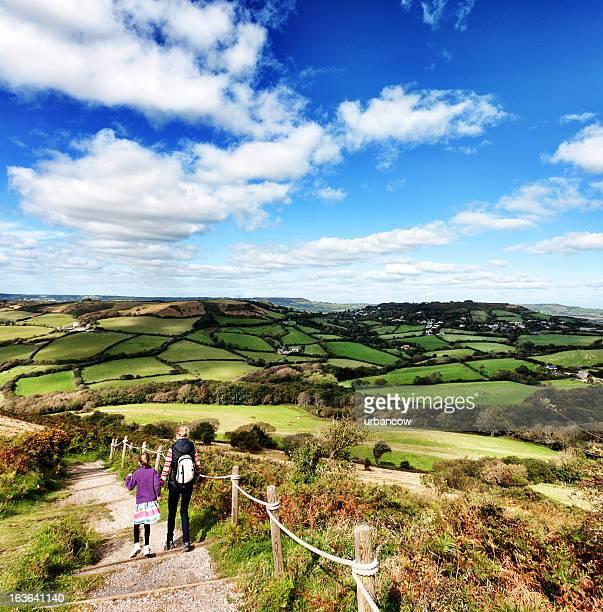 Walk on Golden Cap, Dorset, UK