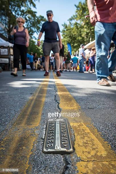 Walk the line - Bristol, TN/VA