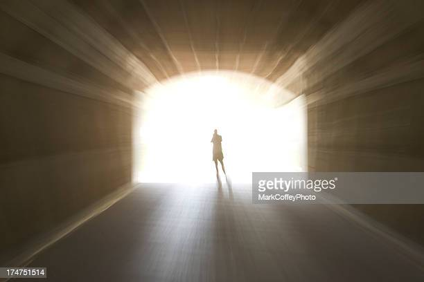 walk to the light - approaching stock pictures, royalty-free photos & images
