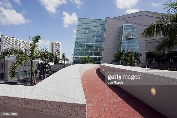 A walk way connects the two buildings of the Carnival Center for the Performing Arts October 3 2006 in Miami Florida Nearly a decade and $461 million...