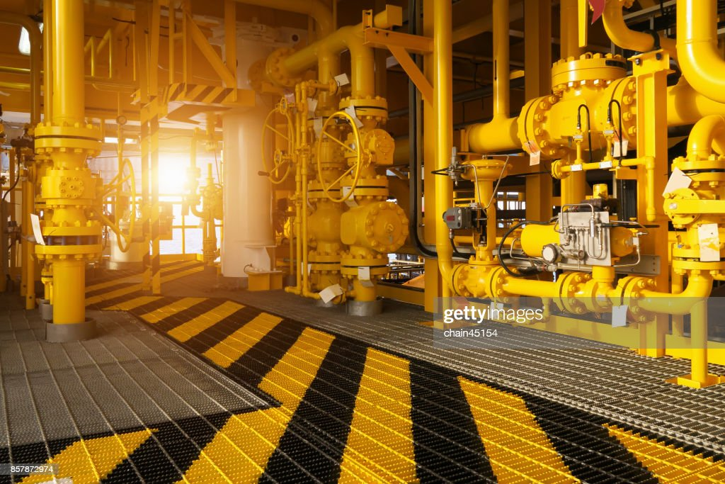 Walk Way In Oil And Gas Construction Platform Oil And Gas Process