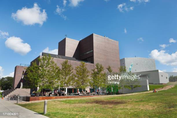 walker art center of minneapolis in summer afternoon - minneapolis stock photos and pictures