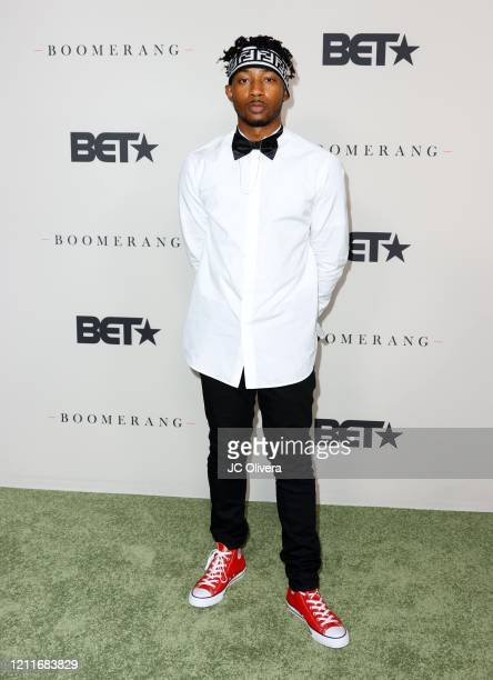 Walker attends the premiere of BET's Boomerang Season 2 at Paramount Studios on March 10 2020 in Los Angeles California