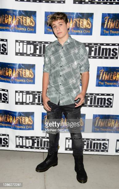 Walker Bryant arrives at The Artists Project Hosts Portraits For The Premiere of Timecrafters on November 17 2020 in Los Angeles California