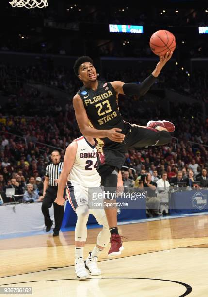 J Walker of the Florida State Seminoles goes up for an off balance shot during the NCAA Division I Men's Championship Sweet Sixteen round basketball...