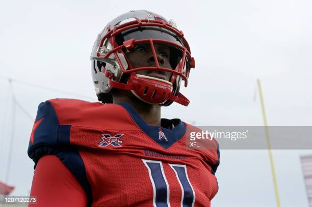 J Walker of the Houston Roughnecks looks on before the game against the St Louis BattleHawks at TDECU Stadium on February 16 2020 in Houston Texas