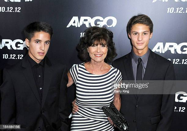Walker Steven Van Zandt actress Adrienne Barbeau and William DAlton Van Zandt arrive at the Los Angeles Premiere 'Argo' at AMPAS Samnuel Goldwyn...