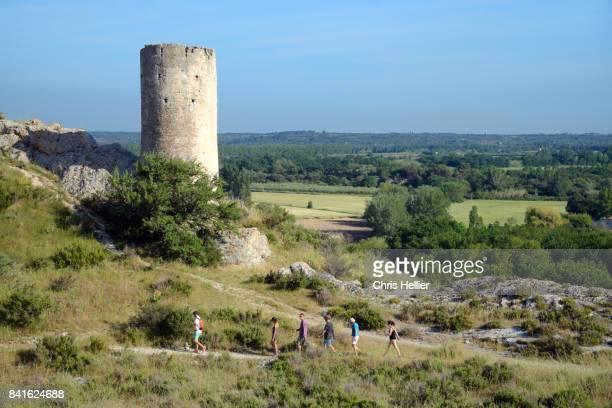 Walkers & Medieval Tower Le Paradou Les Alpilles