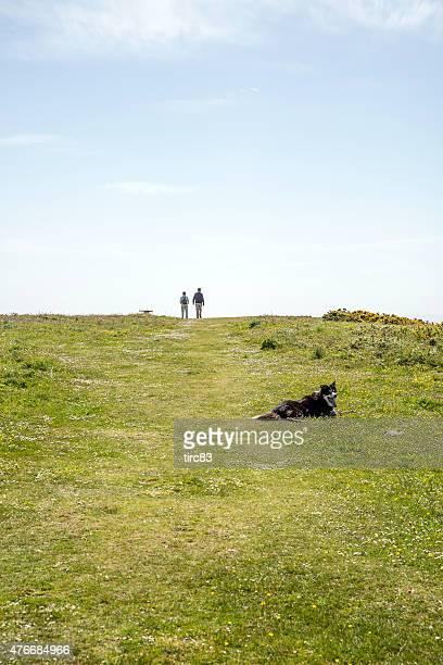 Walkers auf der Gower coastal path