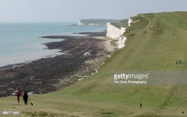 Walkers on the Seven Sisters Cliffs