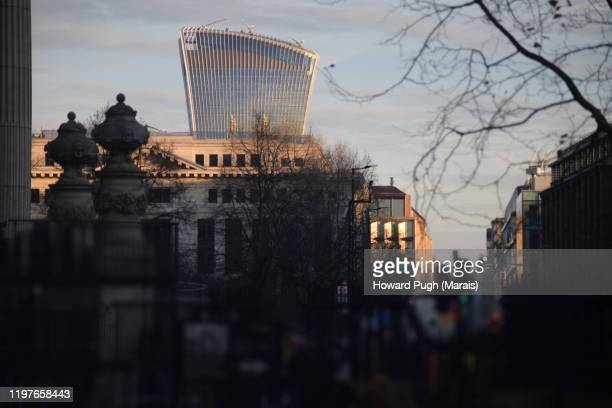 walkie talkie building  - winter sunset - howard pugh stock pictures, royalty-free photos & images