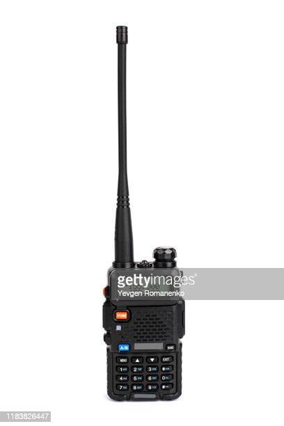 walkie talkie isolated on white background - radio stock pictures, royalty-free photos & images