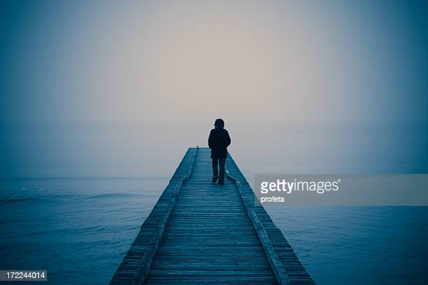 walking alone - suicide stock photos and pictures