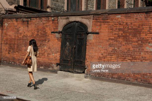 walking around nolita on mulberry street. - mulberry street stock pictures, royalty-free photos & images