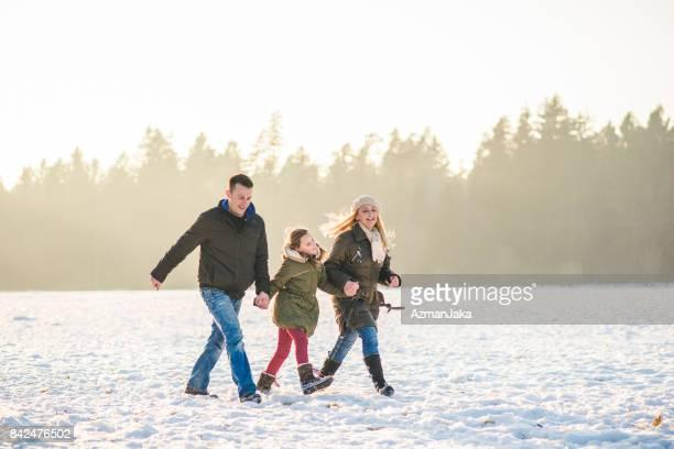 Walking around winter wonderland