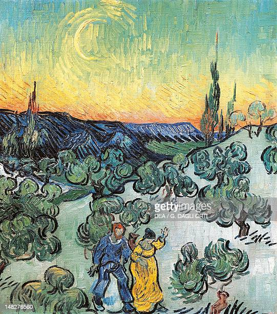 Walking at dusk by Vincent van Gogh San Paolo Museu De Arte De Sao Paulo