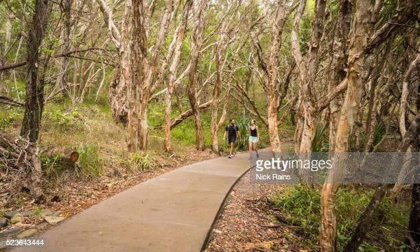 walking at tea tree bay, noosa national park - sunshine coast australia stock pictures, royalty-free photos & images