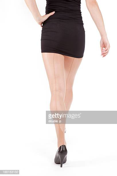 walking away - high heels short skirts stock pictures, royalty-free photos & images