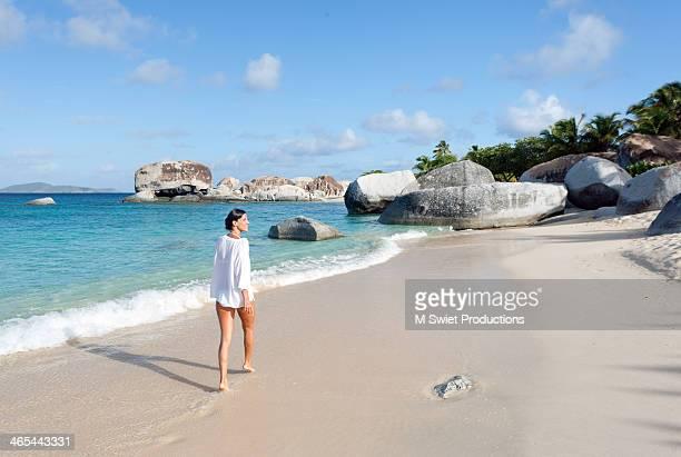 walking beach elegant