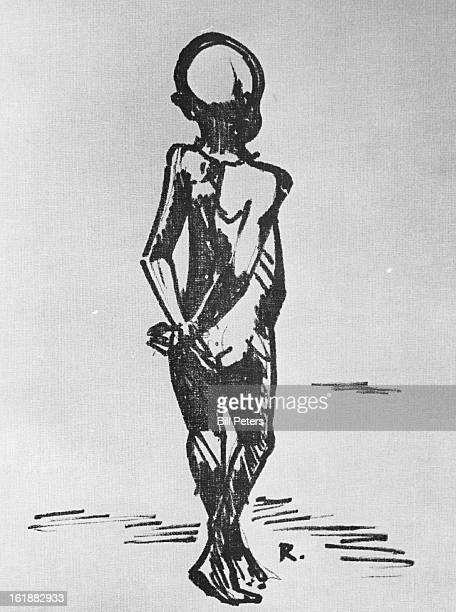 MAY 19 1969 MAY 25 1969 Walking Biafran Child lithographed poster by Bob Ragland in Black Art Festival through June 1