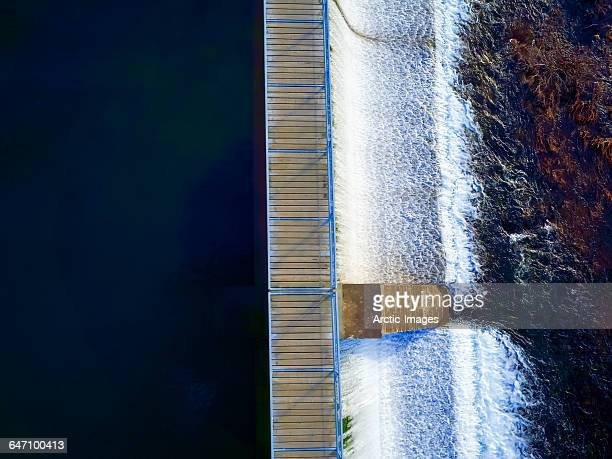 Walking bridge, Lake Ellidavatn, Iceland