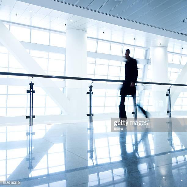 Walking businessman