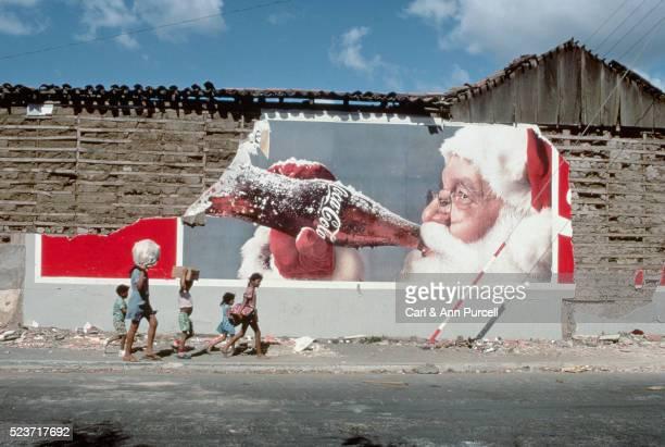 Walking by Crumbling Billboard, Nicaragua
