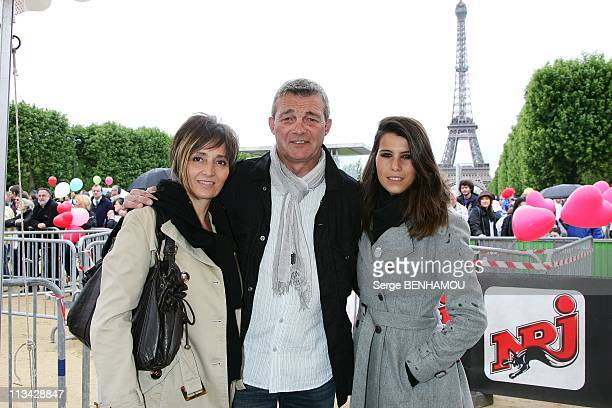 'Walking For The Fight Against Leukemia ' With The Laurette Fugain Association In Paris France On May 17 2009 Laurence and Pierre Lemarchal and...