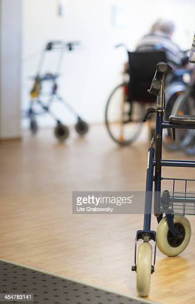 A walking frame with wheels belonging to one of the residents of a nursing home pictured on October 16 2013 on the island of Borkum Germany