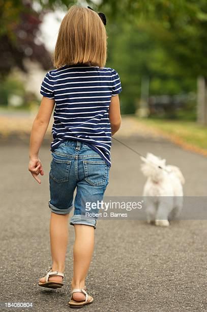 Walking her Dog