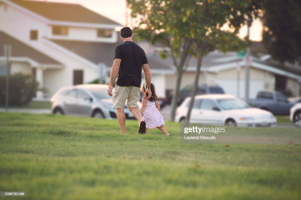 Walking Home - Father Toddler : Stock Photo