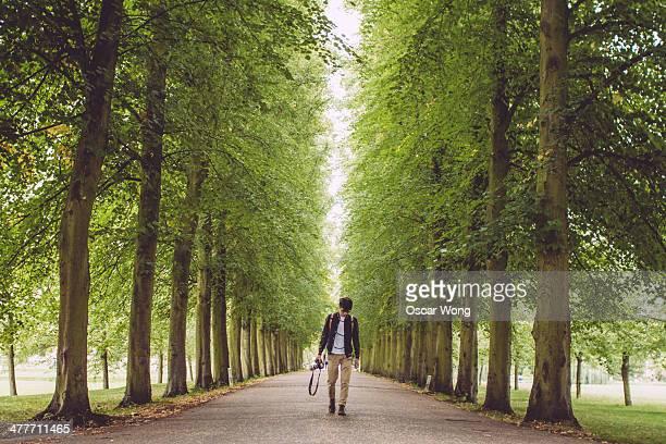 Walking in a garden