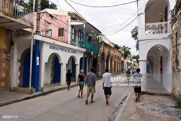 Walking in historic Jacmel