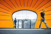 walking in modern architecture